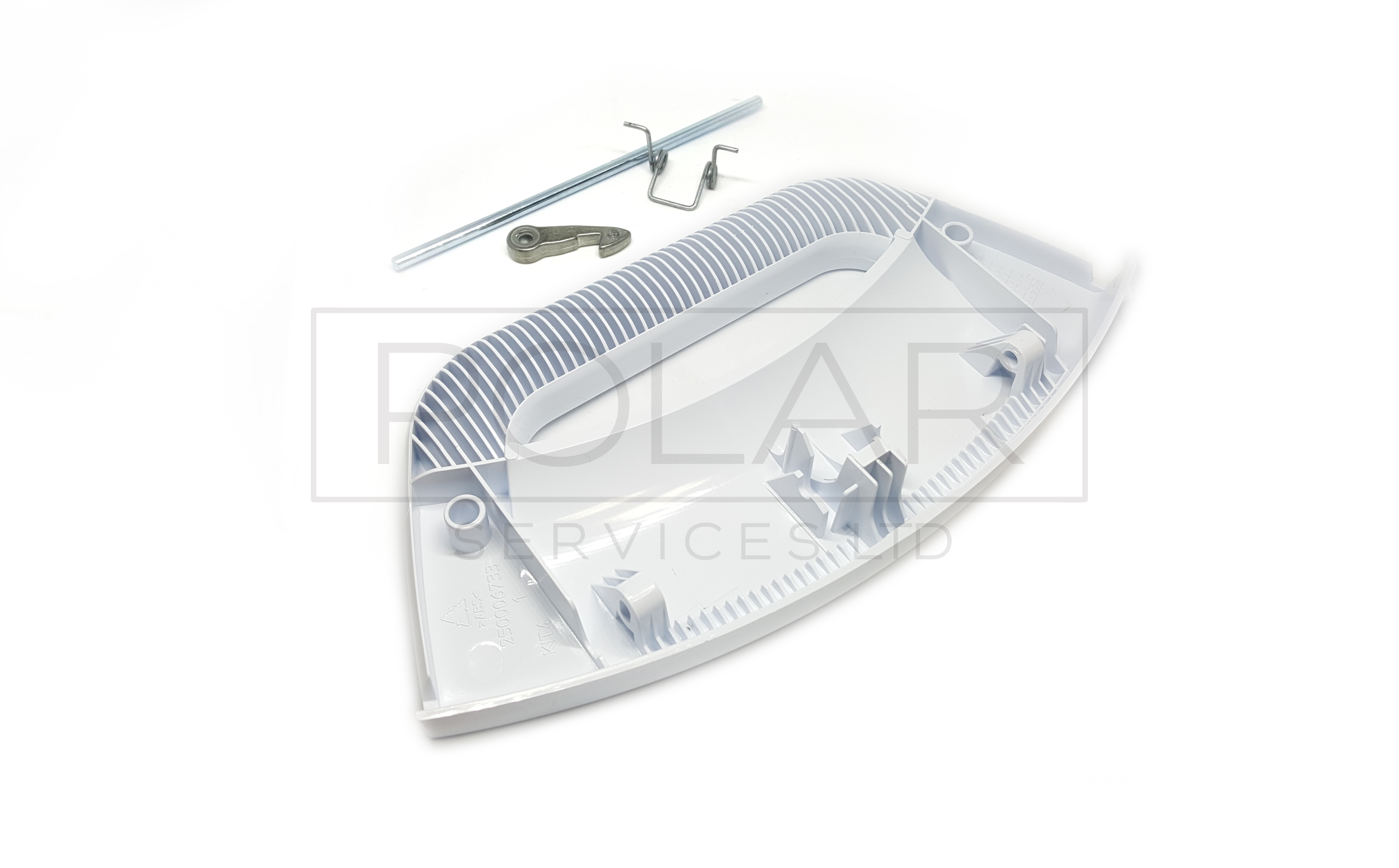 WASHING MACHINE DOOR HANDLE. white, kit 4 pcs - distance betw. couplings 124mm INDESIT-ARISTON-HOTPOINT Malta, 								Washing Machine Malta, Polar Services LTD Malta Malta