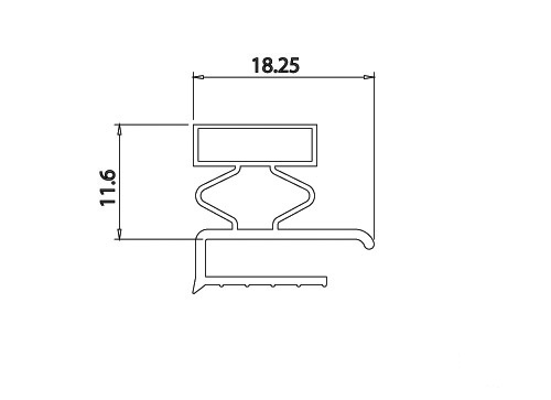 DOOR GASKET WITH MAGNET, LENGTH: 2MT, WHITE. Malta, 								Fridge Malta, Polar Services LTD Malta Malta