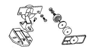 FRIDGE DOOR HINGES FOR BUILT IN MODELS.  ZANUSSI/ REX 50224616008. Malta, 								Fridge Malta, Polar Services LTD Malta Malta
