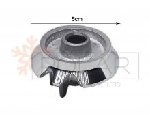 COOKER ALUMINIUM BURNER BASE WITH TWO HOLES FOR SPARK PLUG AND THERMOCOUPLE. (FAMILY CODES- S5912, S0232, S0233, S0230, S0228, S0229, B0235). ARISTON. Malta,